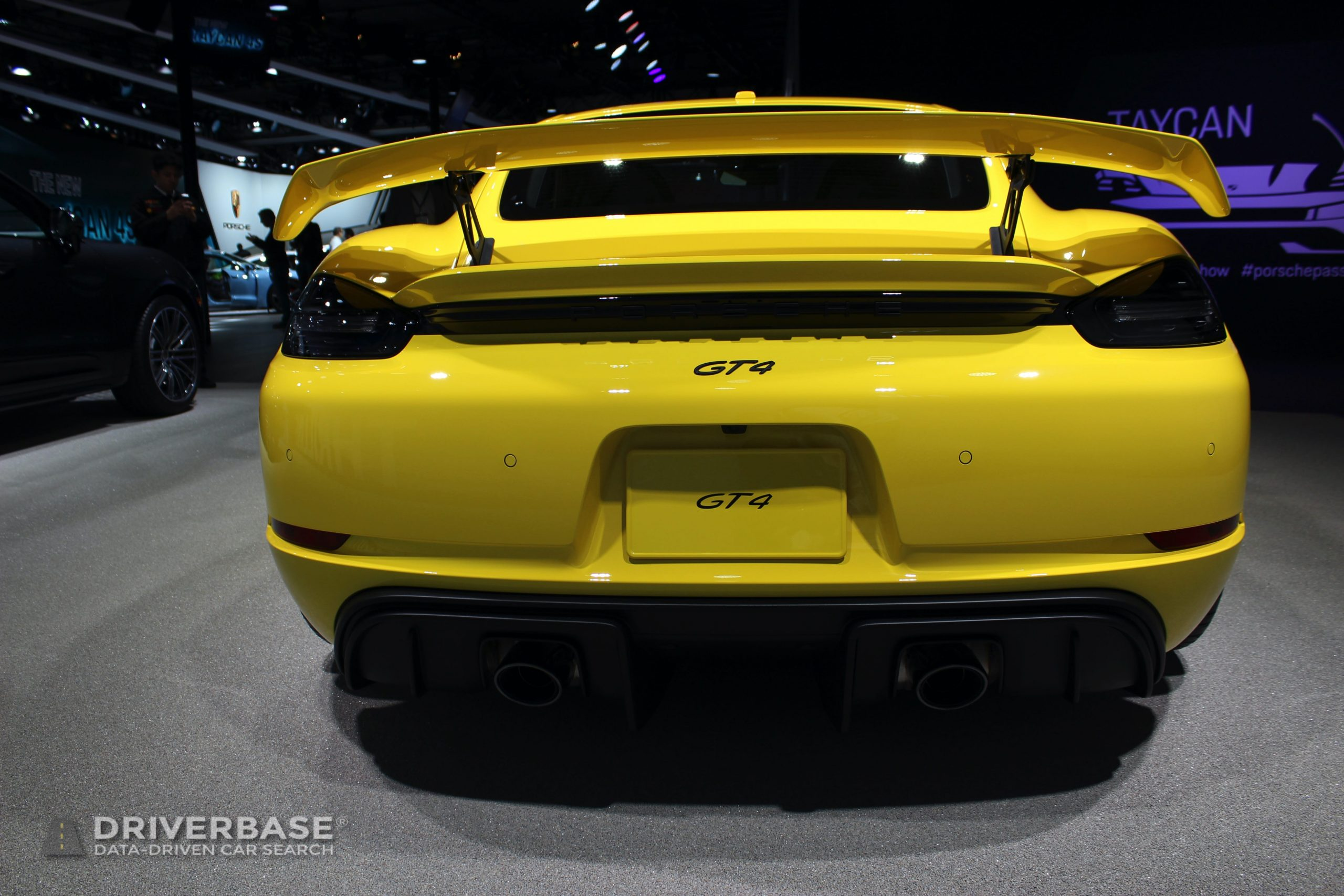 2020 Porsche 718 GT4 at the 2019 Los Angeles Auto Show