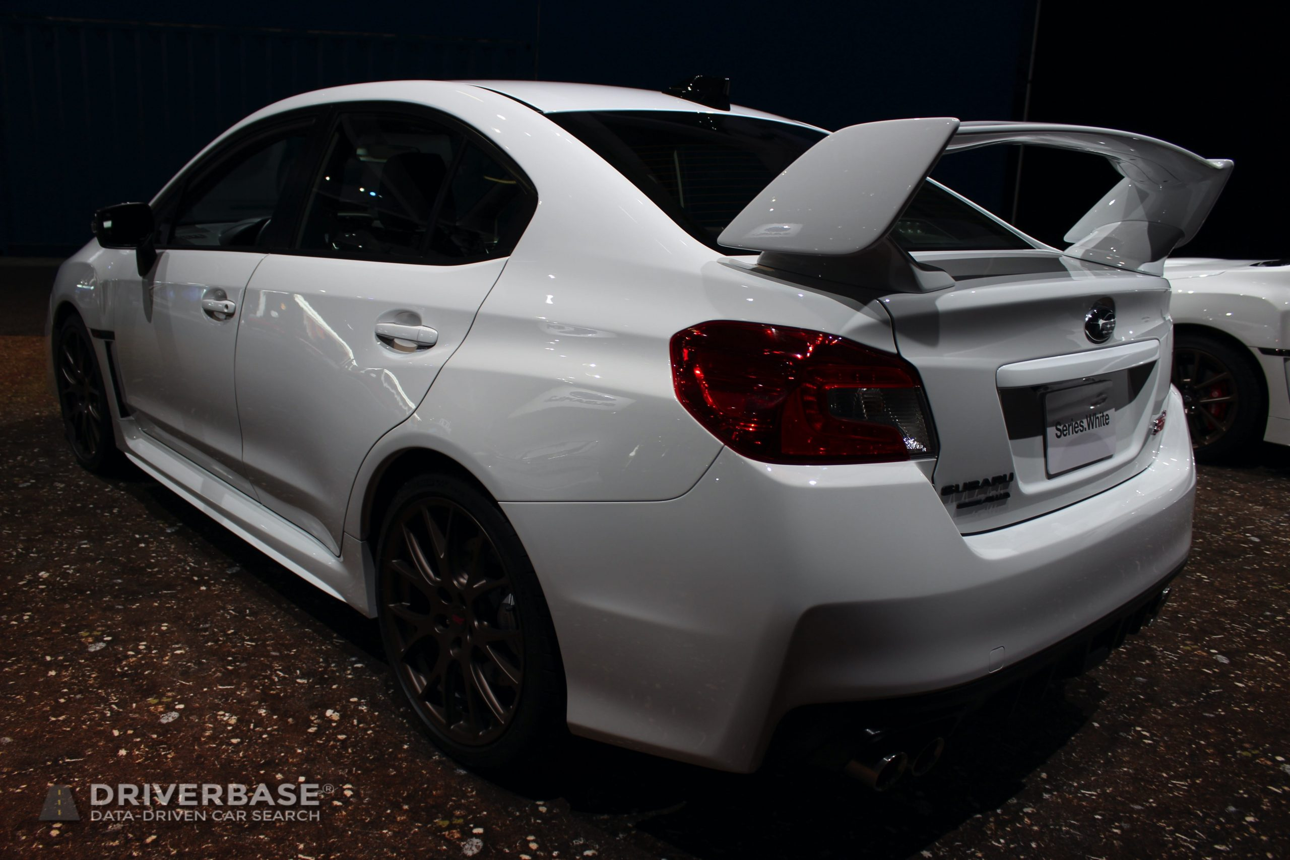 2020 Subaru WRX STI Series White at the 2019 Los Angeles Auto Show