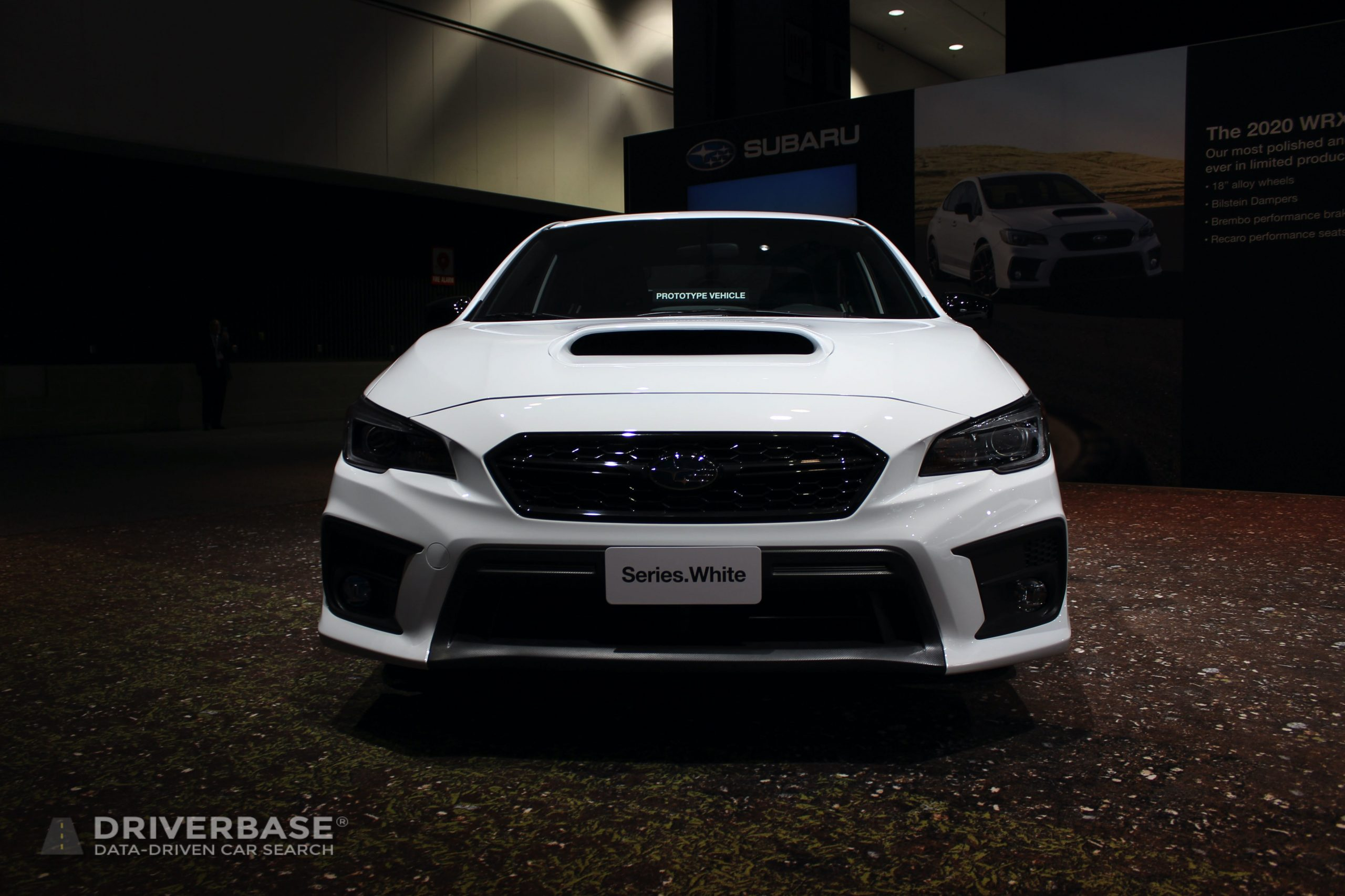 2020 Subaru WRX Series White at the 2019 Los Angeles Auto Show