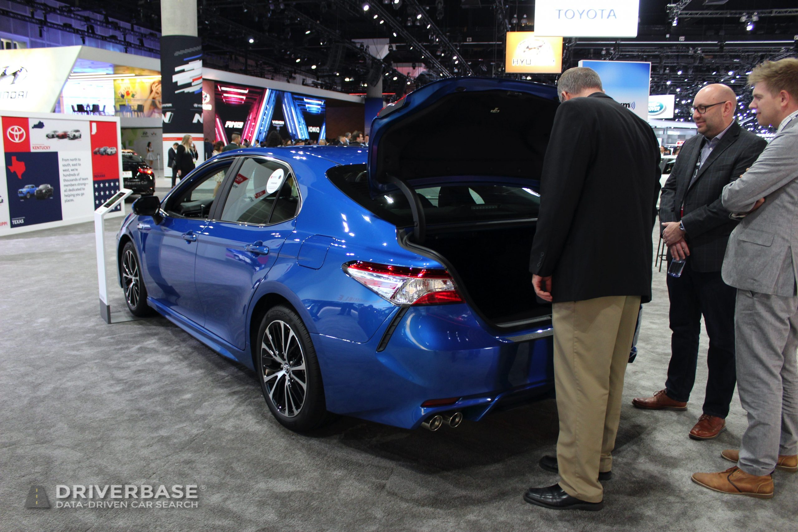 2020 Toyota Camry Hybrid at the 2019 Los Angeles Auto Show