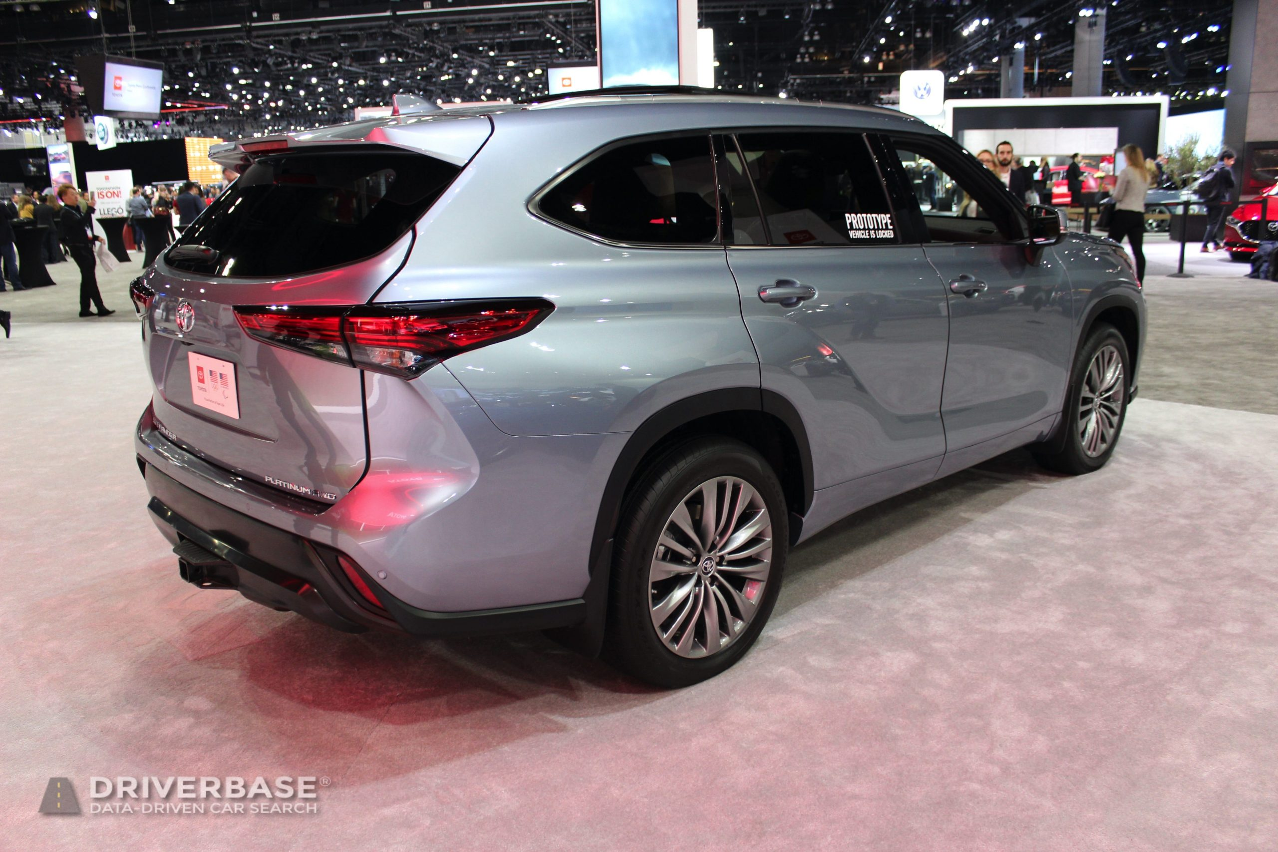 2020 Toyota Highlander Platinum All Wheel Drive at the 2019 Los Angeles Auto Show