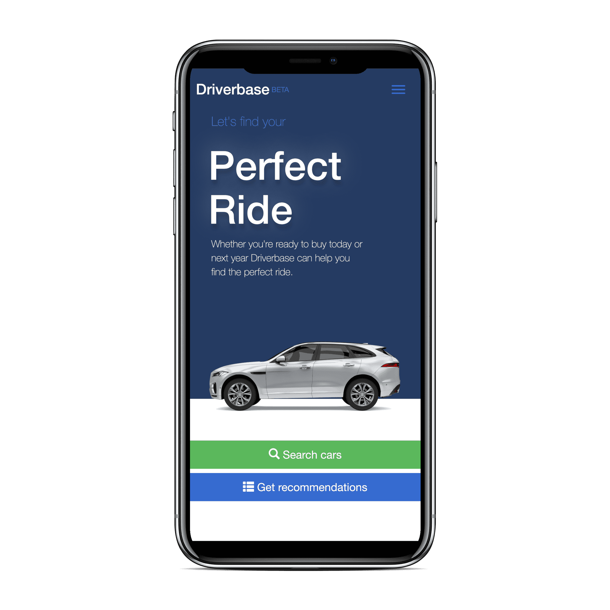 Driverbase cars for sale on iphone x