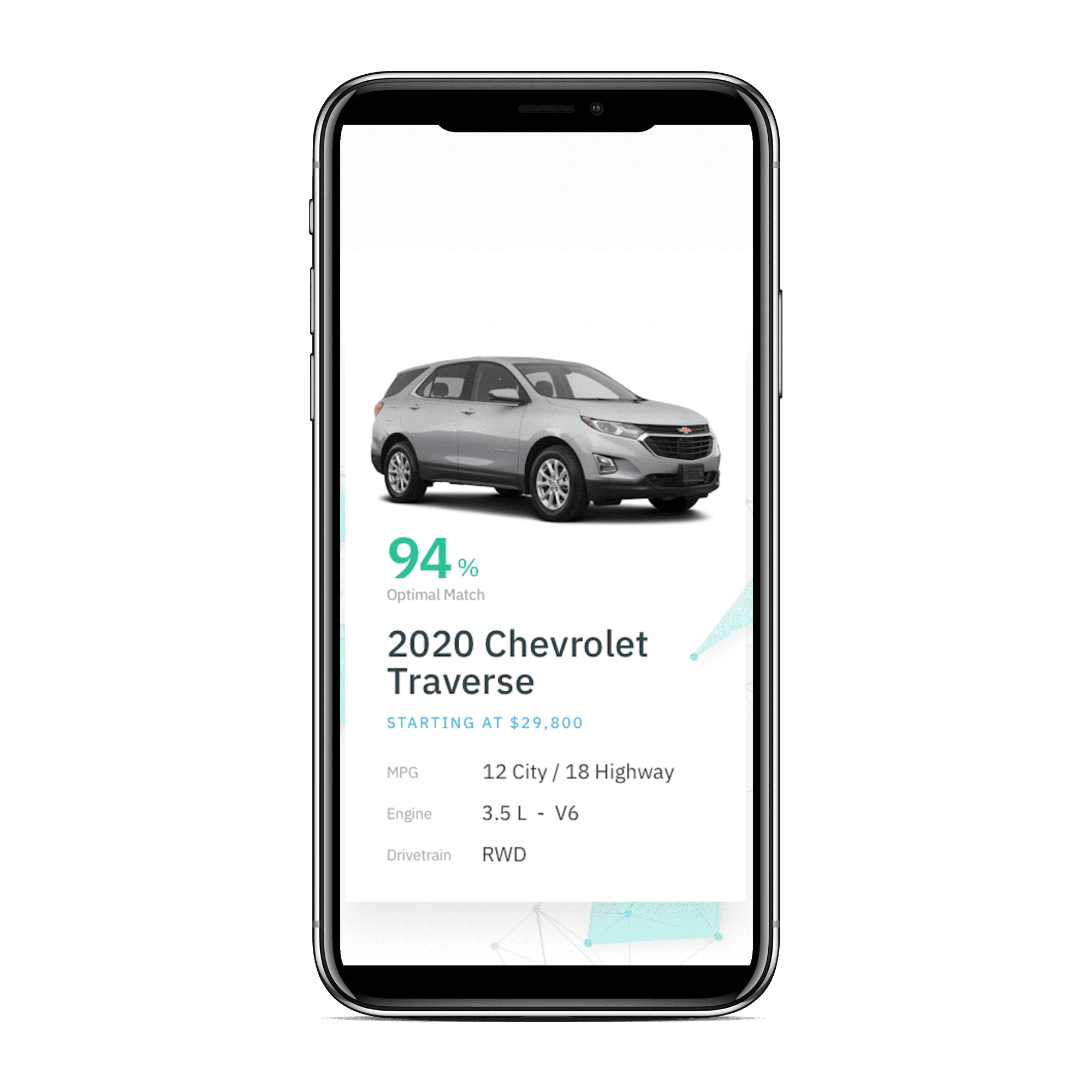 Driverbase Vehicle Recommendation Iphone